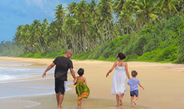 Sri Lanka Family on the beach